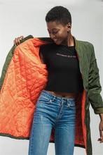 SZMALL Newest 2020 Pop Women Long Coat Winter Warm Outwear Female Sleeve Zipper Jacket Lady Straight Streetwear Clothes