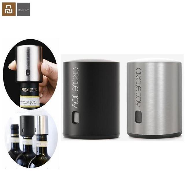 Youpin Smart Wine Stopper Stainless Steel Electric Stopper Wine Corks Mi Circle Joy Vacuum Memory Wine Stopper