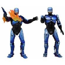 Горячая продажа NECA Robocop серии фигурку модель игрушки 2 битва поврежденный и огнемет 18 см ПВХ модель игрушки для коллекции