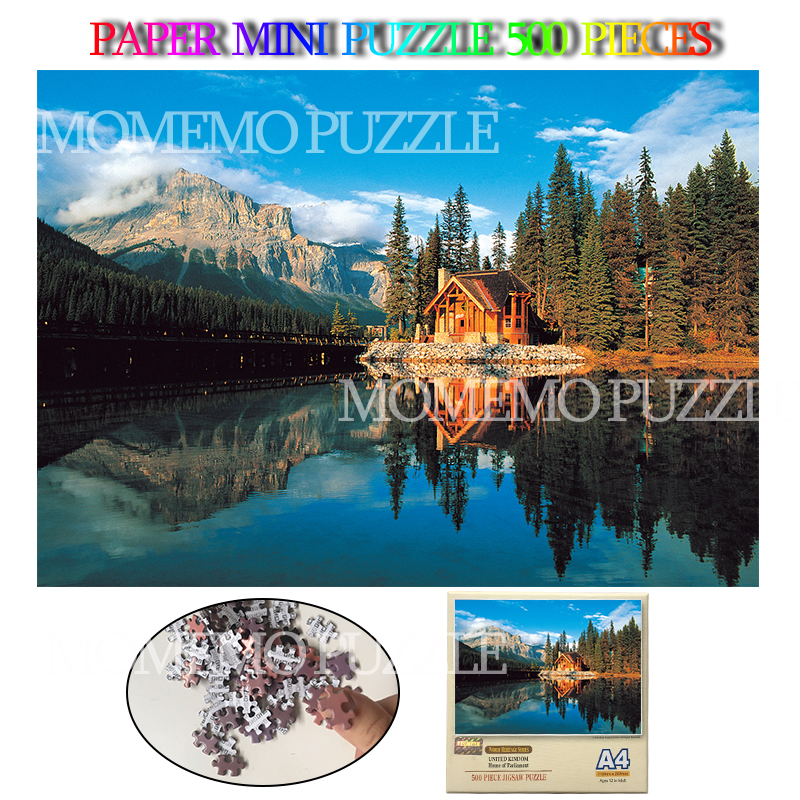 Banff National Park Paper Mini 500 Pieces Jigsaw Puzzles Beautiful Canada Natural Landscape Adults Kids Brain Challenge Puzzles