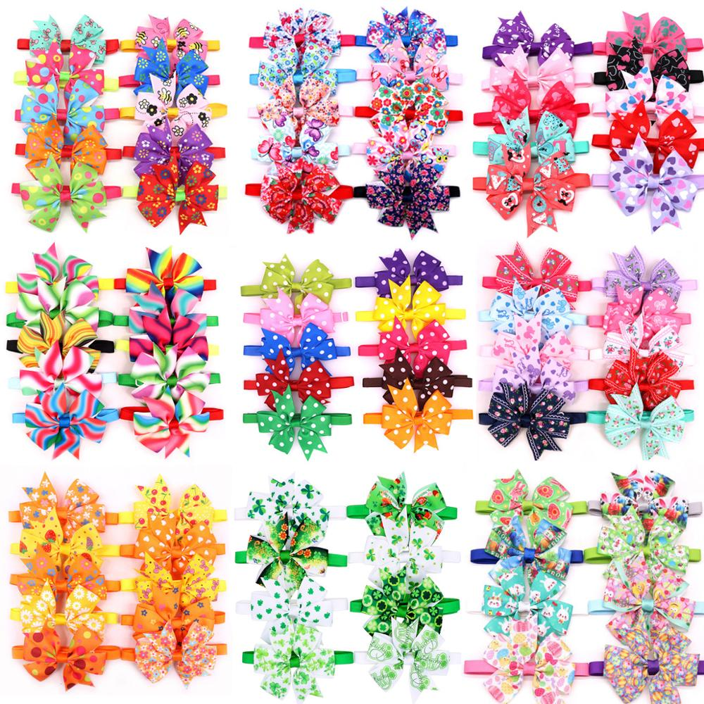 20pcs Halloween Dog Accessories Pet Cat Dog  Bowtie Cute Pet Dog Party Holiday Grooming Products Christmas Bow Tie For Dogs