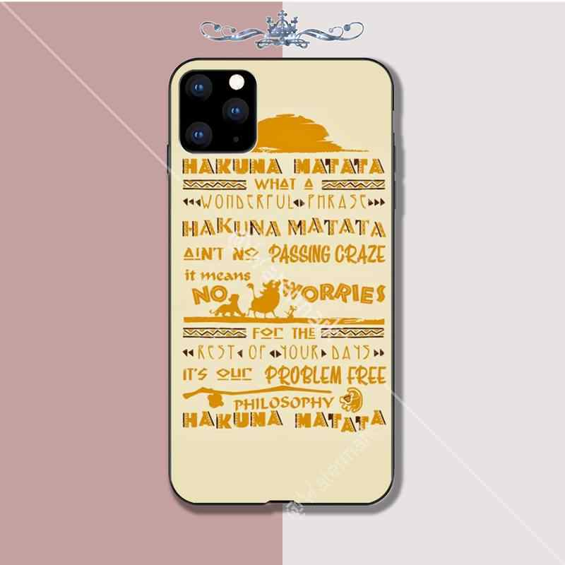 Hakuna Matata The Lion King Luxury Phone Case Coque For Iphone 5s ...