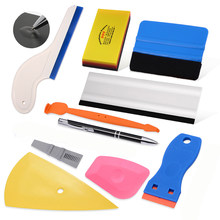 Ehdis película de cobertura fibra carbono envoltório vinil carro ferramentas kit adesivos de carro ímã rodo ar remover caneta ferramentas estilo automático conjunto