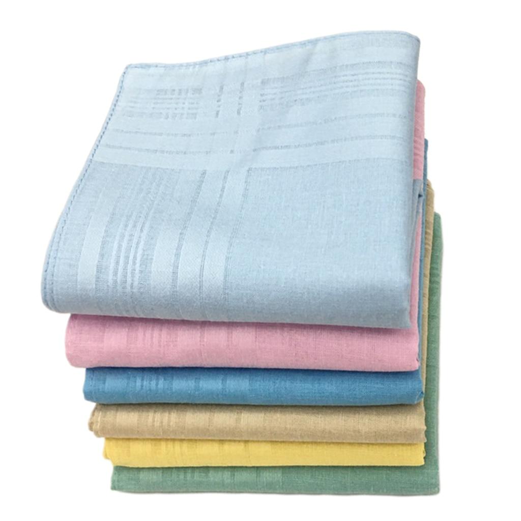 12x Pure Cotton Handkerchiefs Men Women Square Party Hankie Kerchiefs Towel Lot