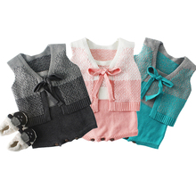 New 2019 Autumn Winter Baby Romper Body Girl Clothes Boy Clothing Cotton Knit Infant Toddler Sleeveless Jumpsuit цена 2017