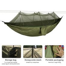 210t Nylon Outdoor Mosquito Net Hammock Double Anti-Mosquito Parachute Cloth Air Camping Tent Hanging Sleeping Swing Portable