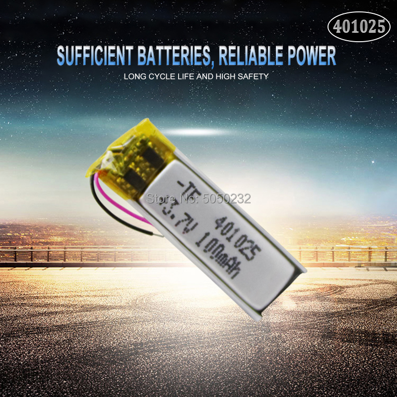 1pc 70mAh 3.7V <font><b>401025</b></font> PLIB Polymer Lithium ion / Li-ion Battery for GPS MP3 MP4 MP5 DVD Bluetooth Model Toy Mobile Bluetooth image