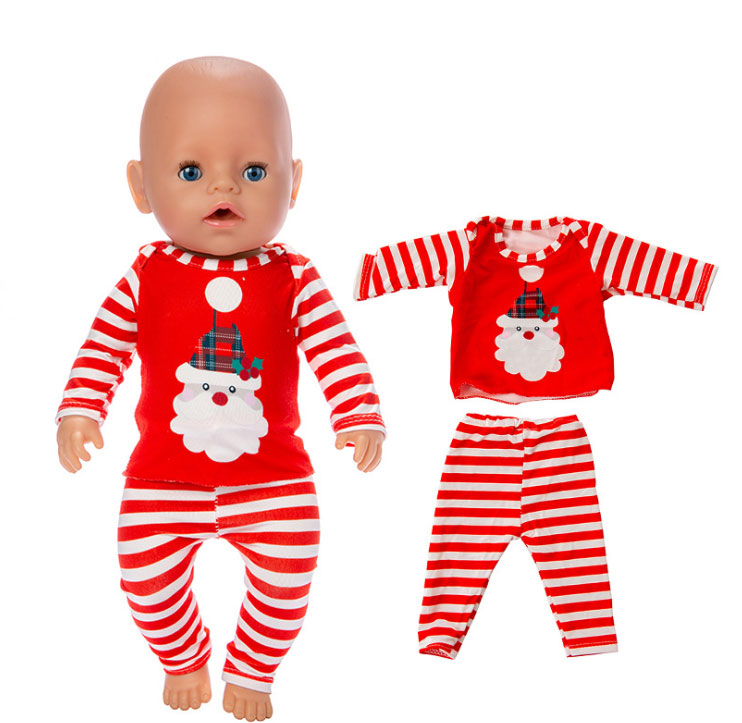 2019 New Christmas Dolls Clothes Suit Fit For 43cm Baby Doll 17inch Reborn Baby Doll Accessories