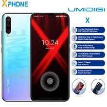 UMIDIGI X 4GB 128GB טלפון 6.35 AMOLED ואטארדרוף מסך אנדרואיד 9.0 עוגת אוקטה Core מהיר מטען 48MP מצלמה טביעות אצבע סלולרי מזהה