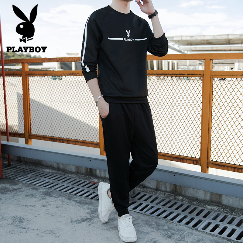 PLAYBOY Hoodie Men's 2019 New Style Autumn MEN'S Sport Suit Korean-style Trend Spring And Autumn
