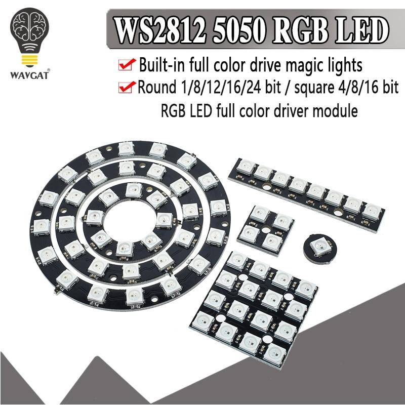 4 8 12 16 Channel WS2812 WS2812B WS 2811 5050 RGB LED Lamp Panel Module 5V 1Bit 4Bit 8Bit 12Bit 16Bit 24Bit Rainbow LED Precise