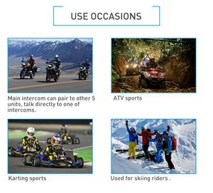 Image 5 - Fodsports 2 قطعة V6 برو إنترفون دراجة نارية خوذة بلوتوث سماعات اتصال داخلي 6 رايدر 1200 متر مقاوم للماء BT البيني