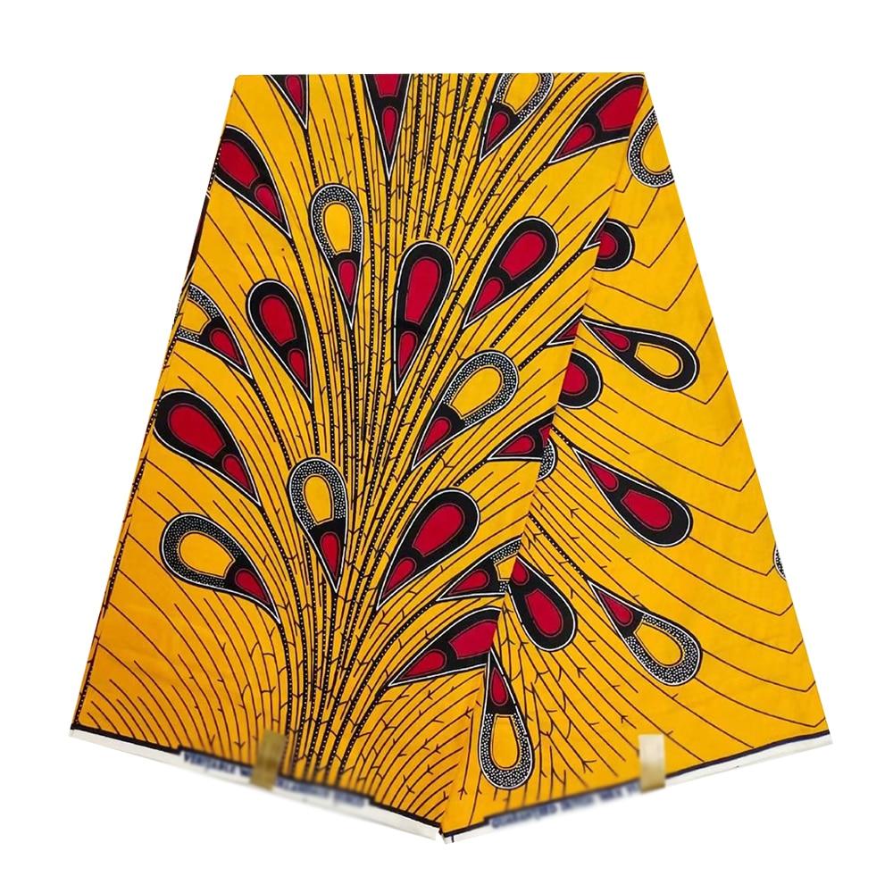Beautiful African Nigerian Real Holland Wax Fabric For Women Ankara 100% Cotton Print Super Wax Fabrics Pange 6yards Top Quality