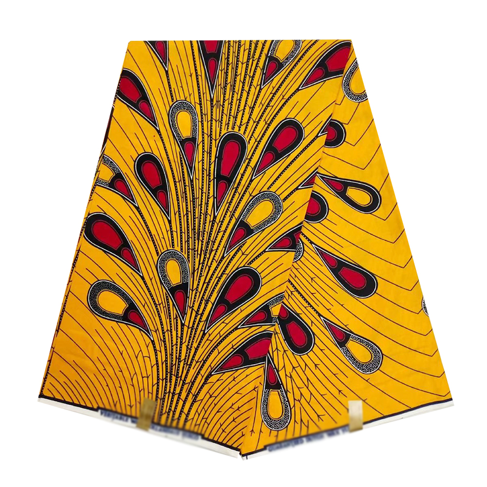 Beautiful African Nigerian Real Holland Wax Fabric For Women Ankara 100% Cotton Print Wax Fabrics Pange 6yards Top Quality
