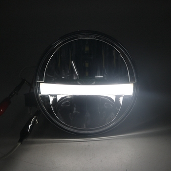 Yait 5.75 Inch Round LED Motorcycle Headlight Bulb LED Projector Hi/Lo Beam Headlamp for Motorcycle