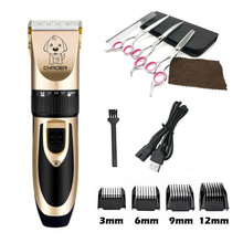 Kit de recortador profesional para perros y gatos, afeitadora recargable para gatos y mascotas, afeitadora para cortadora de cabello para animales con tijeras de 6″
