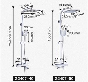 Image 5 - GAPPO thermostatic Bathtub Faucets shower set rainfall faucet hot and cold black Shower faucet Bathtub thermostatic shower mixer