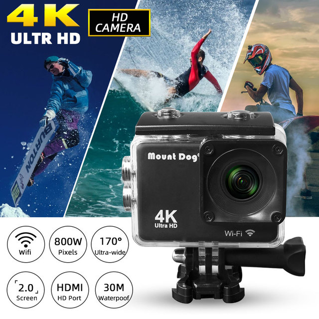 MountDog Underwater Ultra HD 4K Action Camera With WiFi Sports Video Recoding Waterproof Action Cam 3