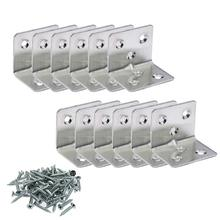 12 pieces Corner Brace Joint Right Angle L Bracket Stainless Steel Shelf Support Fastener with Hardware Screws 5x 3 pcs 125mm x 125mm corner brace joint right angle bracket