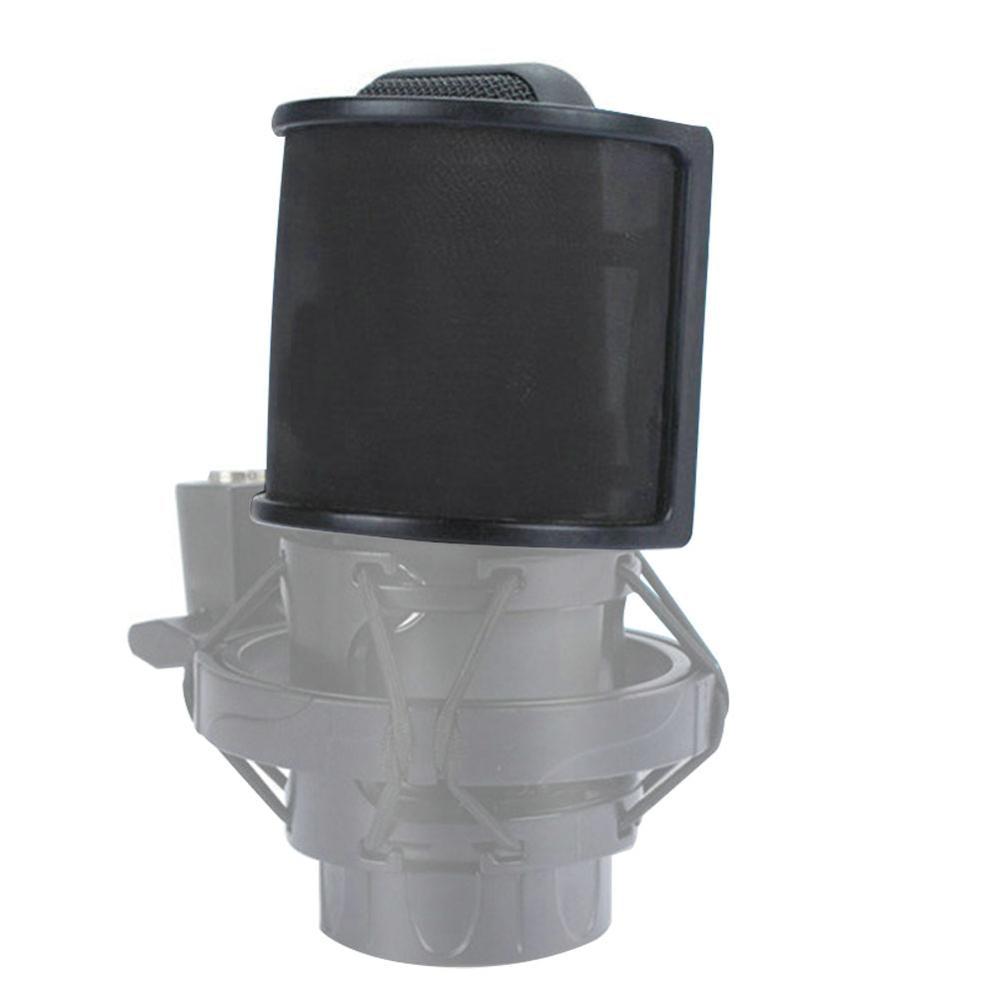 Professional U Shape Double Layer Recording Studio Microphone Windscreen Pop Filter Mask Shield Cover Studio Windscreen 4