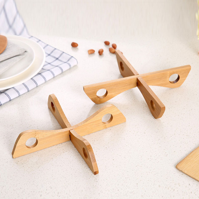 Multifunction Bamboo Steamer Rack Durable Pot Steaming Tray Stand Heat-insulated Non Slip Table Mat Cookware Kitchen Accessories