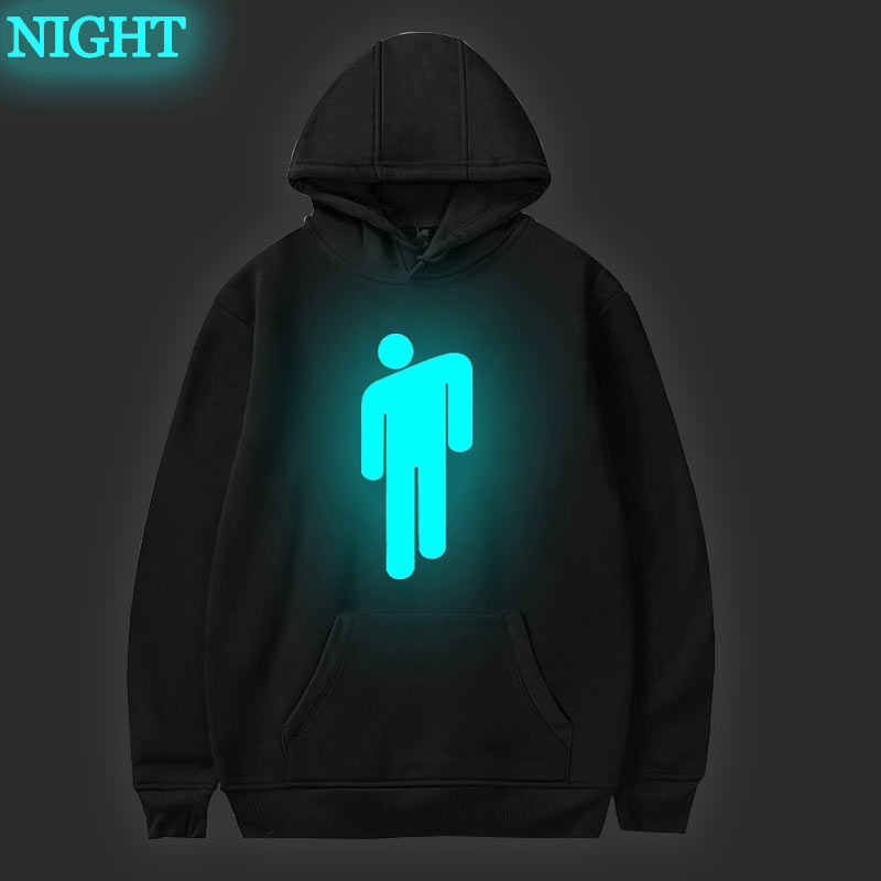 Billie Eilish Hoodie Men Black Cotton Hoodie Couple Luminous Billie Elish Sweatshirt Simple Keep Warm Women Men Clothes Aliexpress