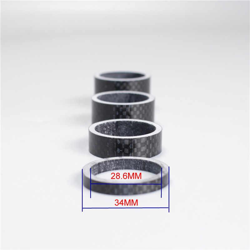 5 шт./компл. углеродного волокна гарнитура прокладки для вилки комплект руль прокладки уплотнительным кольцом спереди Вилочная шайба велосипедный вынос руля, шоссейный велосипед черный