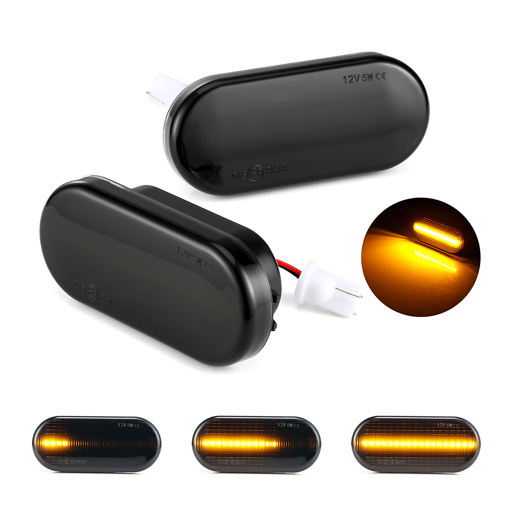 Dynamic <font><b>LED</b></font> Fender Side Marker Light Turn Signal Lamp For Volkswagen VW Bora <font><b>Golf</b></font> 3 4 Passat 3BG Polo SB6 SEAT Leon Ford Focus image