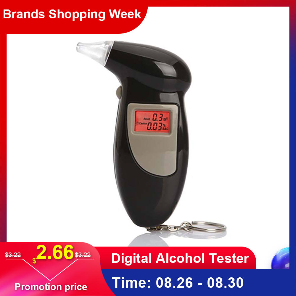 Breathalyzer-Analyzer Lcd-Detector Alcohol-Tester Digital Handheld 1PCS Backlight-Light
