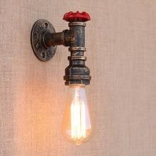 5 סגנון בציר קיטור פאנק לופט תעשייתי ברזל חלודה מים צינור קיר מנורות E27 פמוט אורות סלון חדר שינה בר
