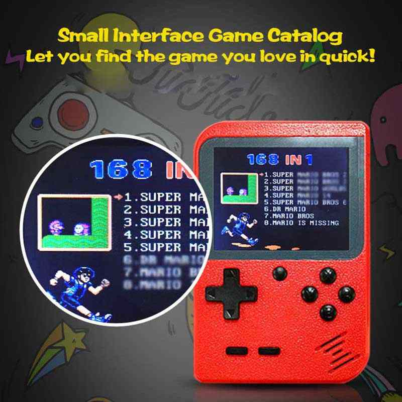 2020 جديد ريترو المحمولة وحدة تحكم بجهاز لعب محمول 8 بت 3.0 بوصة لون LCD أطفال لون لعبة لاعب المدمج في 400 ألعاب