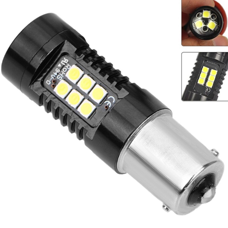 Bright Car Brake Reverse Turn Signal Fog Lights Bulb P21W P21/<font><b>5W</b></font> <font><b>R5W</b></font> PY21W BAY15D S25 3030 1156 <font><b>BA15S</b></font> 21 SMD <font><b>Led</b></font> Light White <font><b>12V</b></font> image