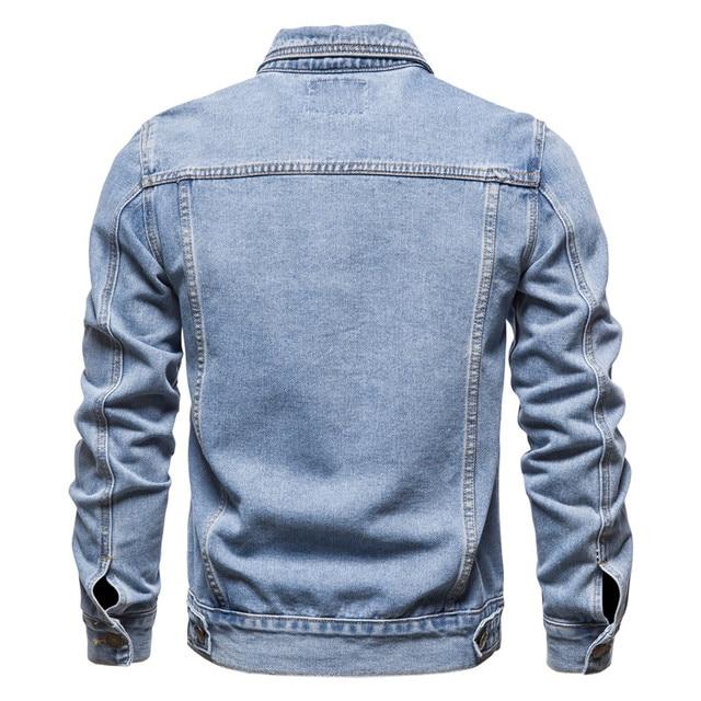 New 2020 Cotton Denim Jacket Men Casual Solid Color Lapel Single Breasted Jeans Jacket Men Autumn Slim Fit Quality Mens Jackets 3
