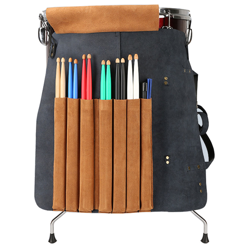 Genuine Leather Drumstick Bag MoonEmbassy Vintage Style Drumstick Case  Drumsticks Holder Personalization Gift For Drummer