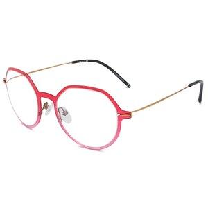 Image 4 - Reven Jate Männer und Frauen Unisex Mode Optische Brille Hohe Qualität Brille Optische Rahmen Brillen 1849