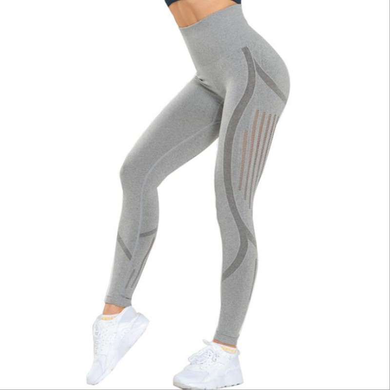 Sweatpants Seamless High Waist Stretch Breathable Quick-Drying Training Legging Exercise Workout Legings Female Sportswear