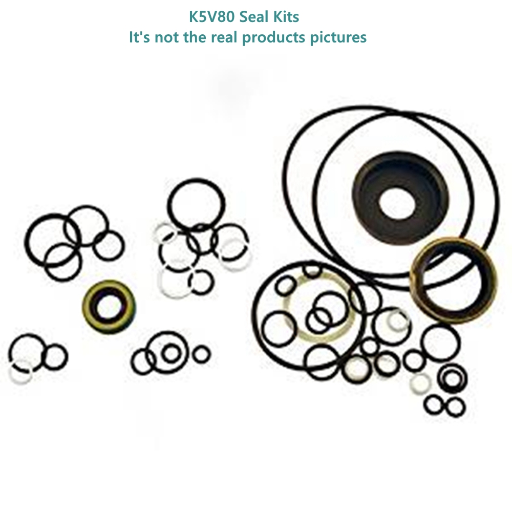 Hydraulic Pump Seal Kits For Kawasaki Excavator Spare Parts K5V80DT K5V80 K580DTP Piston Pump Seal Kits Service Kit O-Ring