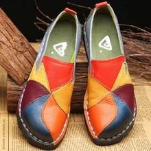 Designer de sapatos femininos couro genuíno plana senhoras mocassins verão feminino deslizamento em mocassins couro casual alpargatas de mujer 2020