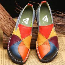 Mocassins en cuir véritable pour femmes, chaussures De styliste plates, chaussures De styliste, collection sans lacet décontracté