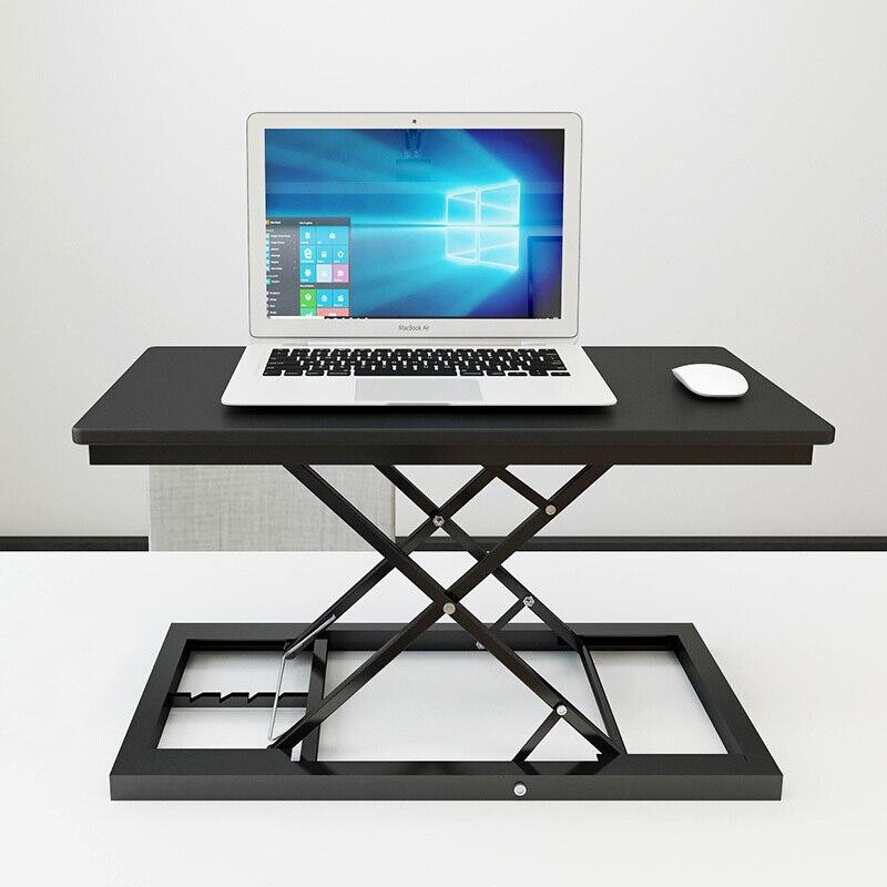 Стол с регулируемой высотой и подставкой для работы, стол для ноутбука, Легкий домашний офисный подъемник, подъемный стол - 3