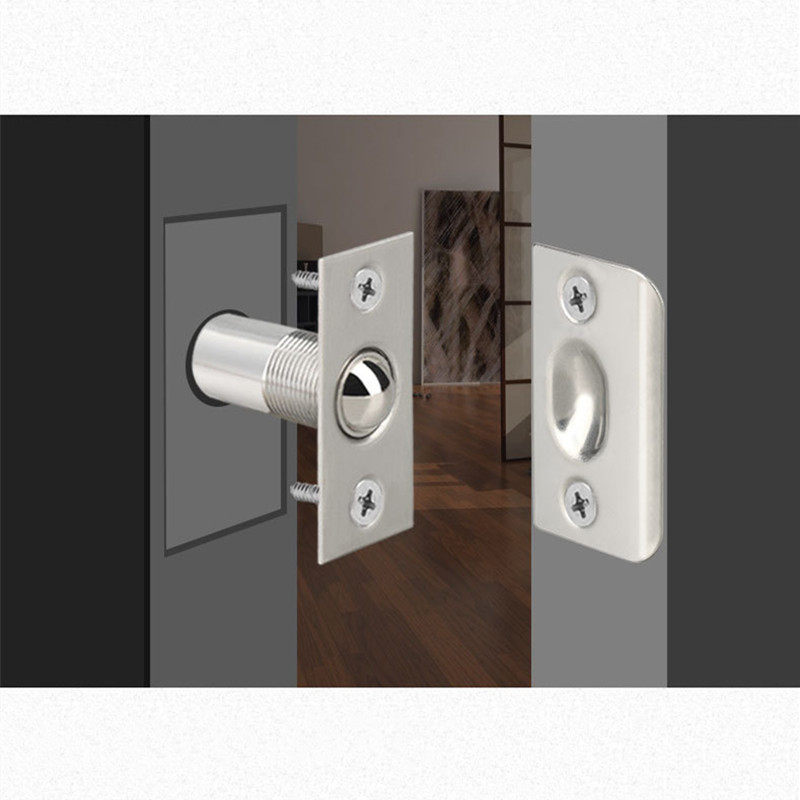 Spring Invisible Wooden Cabinet Door Beads Lock Closet Ball Catch Latch Catcher Door Latches Touch B