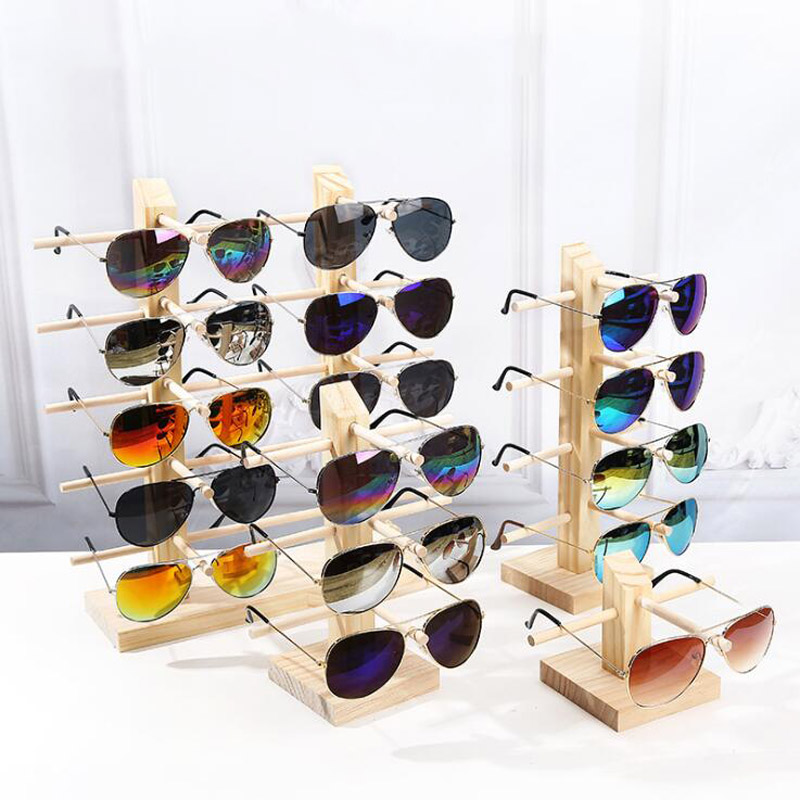 Natural Pine Wooden Scented Sunglasses Display Rack Shelf Eyeglasses Show Stand Jewelry Holder Jewellery Organizer Glasses Show