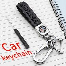 Auto leder geflochtenen seil mode logo schlüsselbund zubehör ring für Buick-Encore Enclave Excelle VERANO Regal Larcosse GT XT