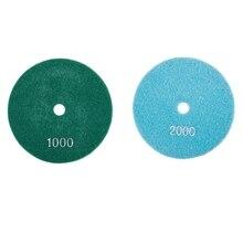 2 шт. 5 дюймов 125 мм влажные Алмазные полировальные колодки мрамор гранит крупы 1000 и 2000