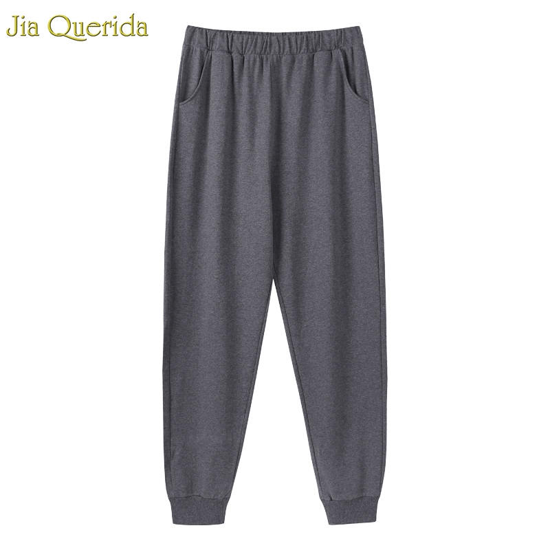 Sleepwear Bottoms Men Lounge Pants 100% Pure Cotton Dark Gery Minimalist Style Mens Pajama Pants Ankle-tied Home Wear Bottom Men