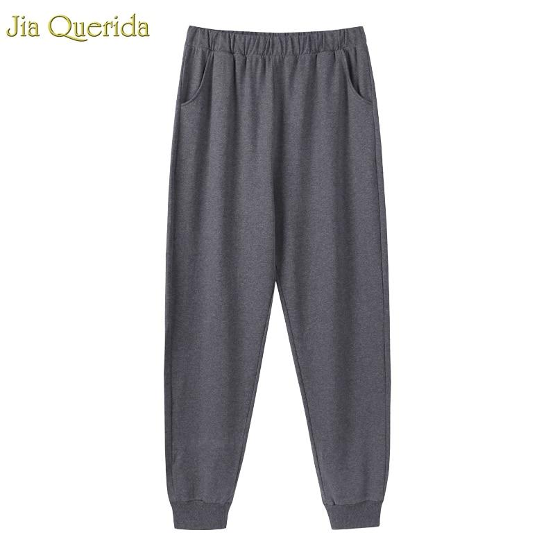 Sleepwear Bottoms Men Lounge Pants 100% Pure Cotton Dark Gery Minimalist Style Mens Pajama Pants Ankle-tied Home Wear Bottom Men