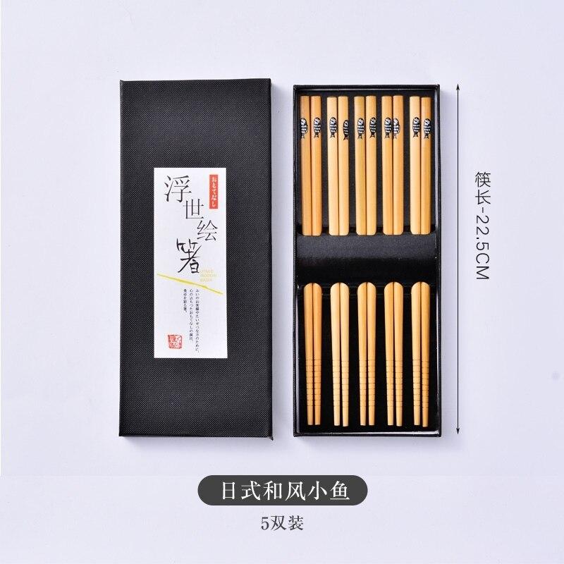 Набор палочек для еды ручной работы набор из 5 пар японских