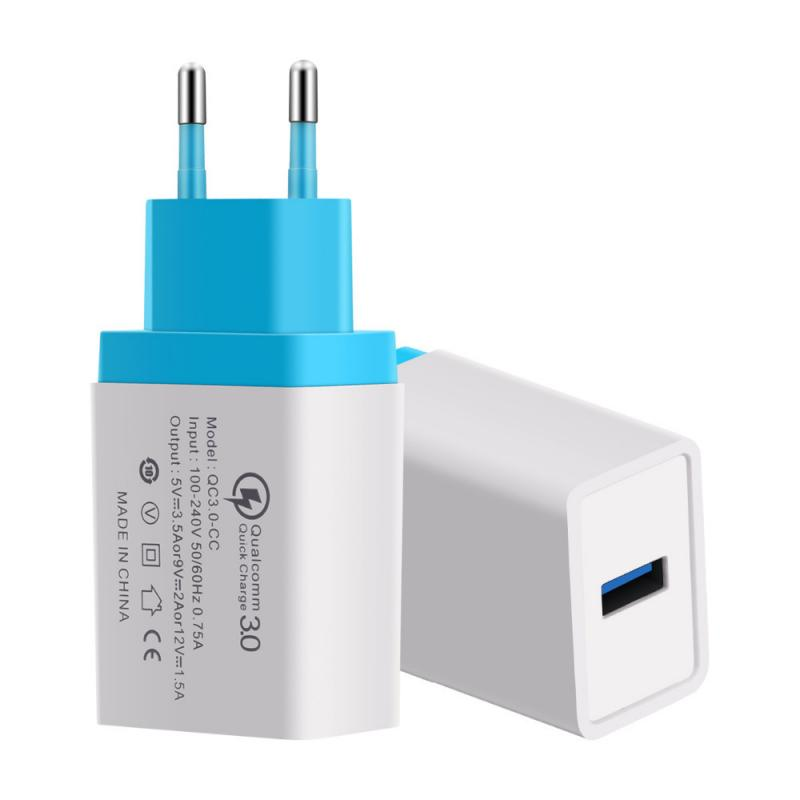 EU Plug USB Charger Quick Charge QC3.0 For Phone Adapter for all phone Tablet Portable Wall Mobile Charger Fast Travel Charger