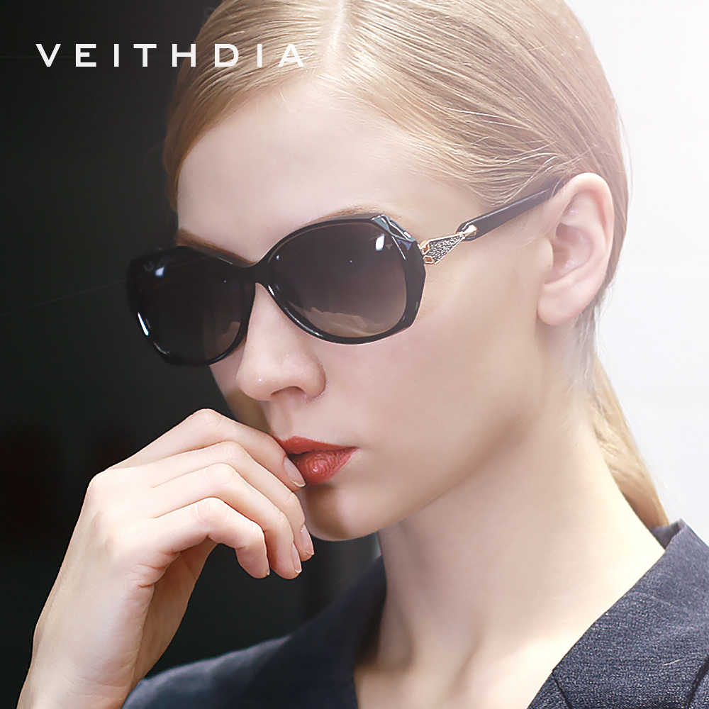 VEITHDIA Women's Sun glasses Polarized Gradient Lens Luxury Ladies Designer Sunglasses Eyewear Accessories For Women 3170