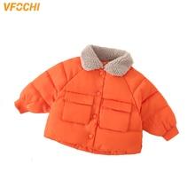 купить VFOCHI Boy Girls Down Coats Kids Winter Wool Collar Jacket Children Clothing Snowsuit Thick Outwear Unisex Girls Boys Down Coats недорого